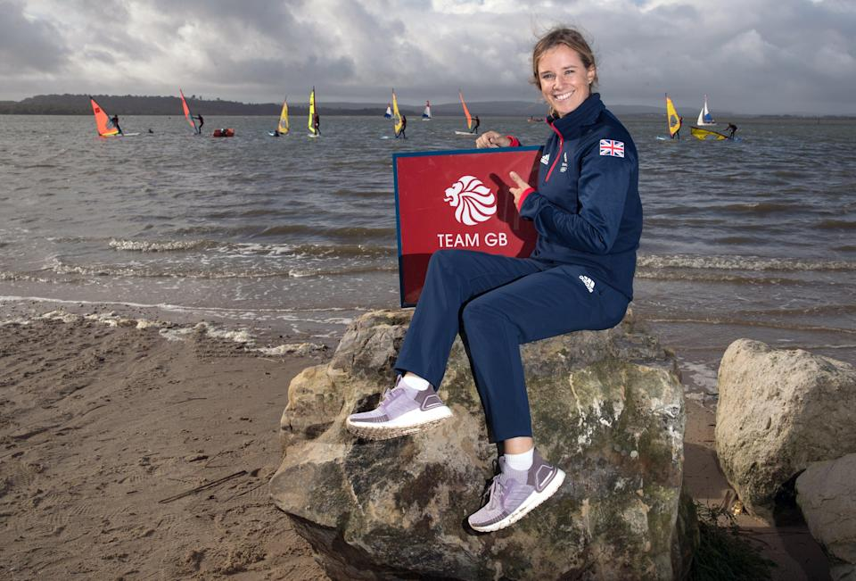 Hannah Mills during the Team GB Tokyo 2020 Sailing team announcement in Poole (Andrew Matthews/PA) (PA Archive)