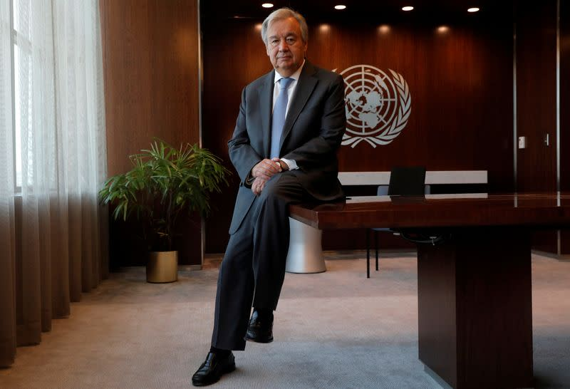 U.N. chief: time for national plans to help fund global COVID-19 vaccine effort