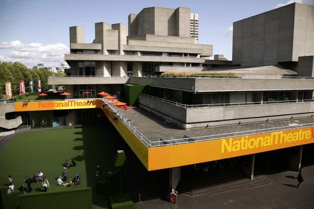 A view of the National Theatre building on the South Bank in London