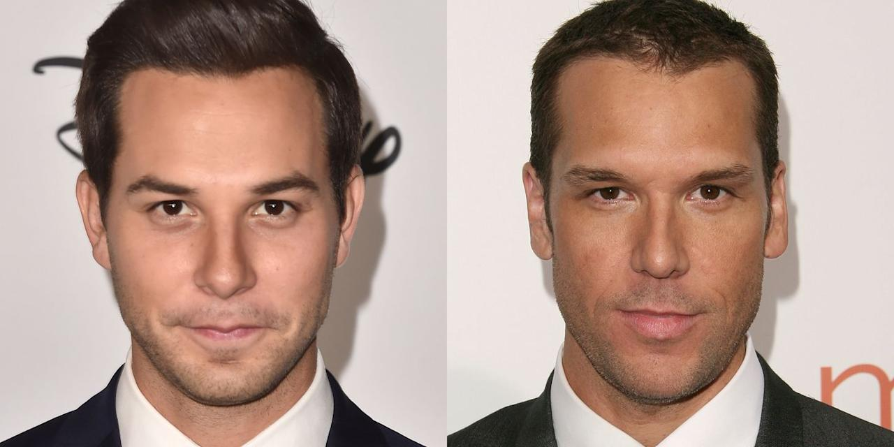 """<p>If Astin were to grow a little facial hair, you would swear that he's Cook. The two actors must get that a lot—Astin posted this picture to Twitter with the <a href=""""https://twitter.com/SkylarAstin/status/353619985899335681"""" target=""""_blank"""">caption</a>, """"We don't see it."""" </p>"""