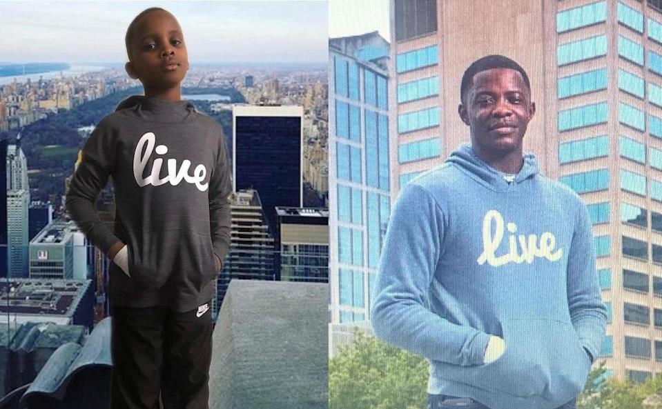 <span>During superhero week at his school in Tennessee, Tayir Thomas, left, chose to dress up as a local hero: James Shaw Jr., the man who bravely stopped a gunman at a Waffle House in Antioch, Tenn. (Photo: Courtesy of Britt Thomas)</span>
