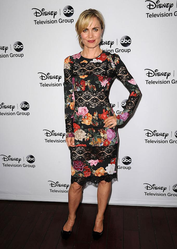 Radha Mitchell attends the Disney ABC Television Group  2013 TCA Winter Press Tour at The Langham Huntington Hotel and Spa on January 10, 2013 in Pasadena, California.
