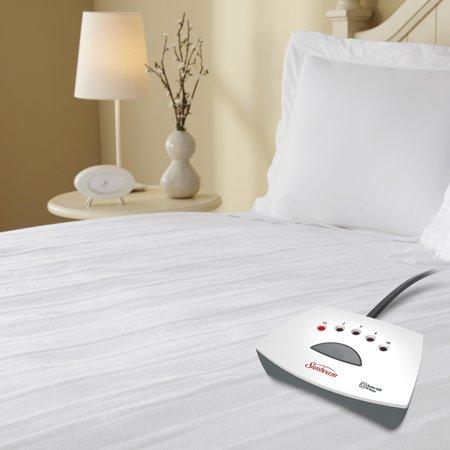 Sunbeam White Heated Mattress Pad, Queen (Credit: Walmart)