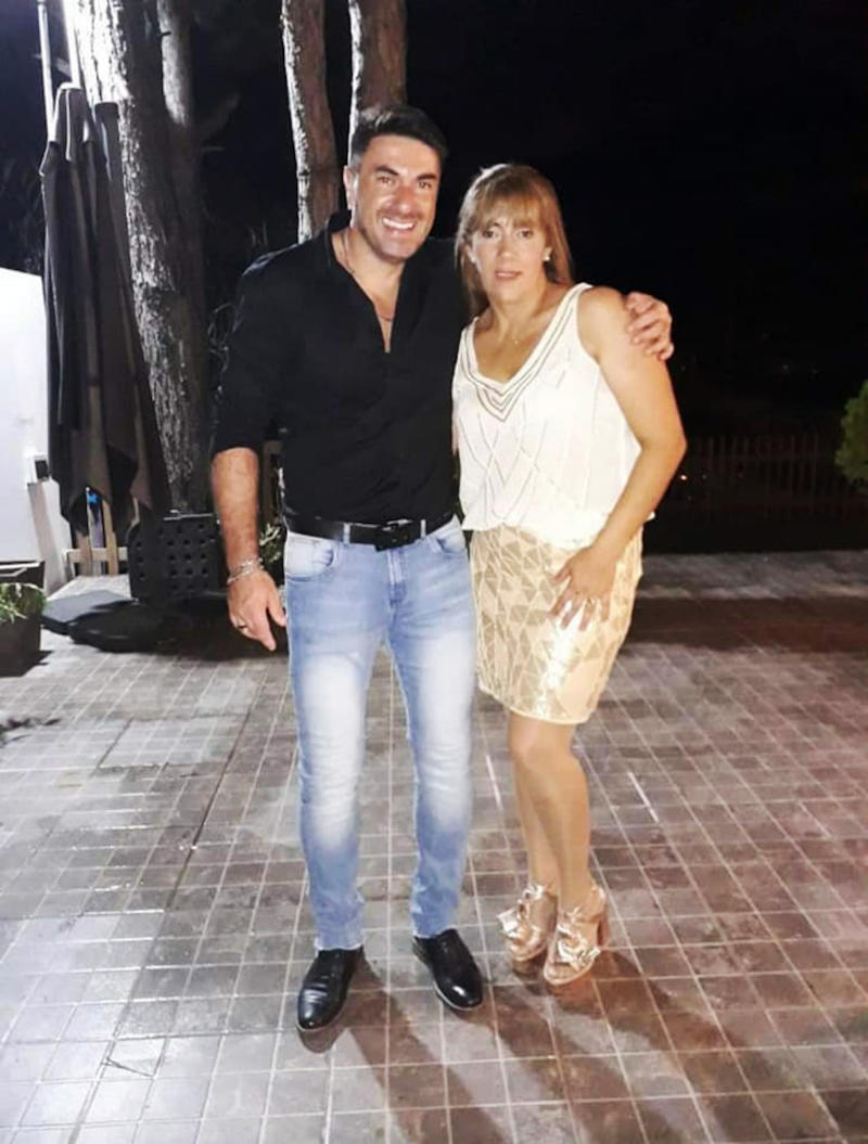 Claudia Bertoldi, 45, is pictured with her brother. Source: Newsflash/Australscope