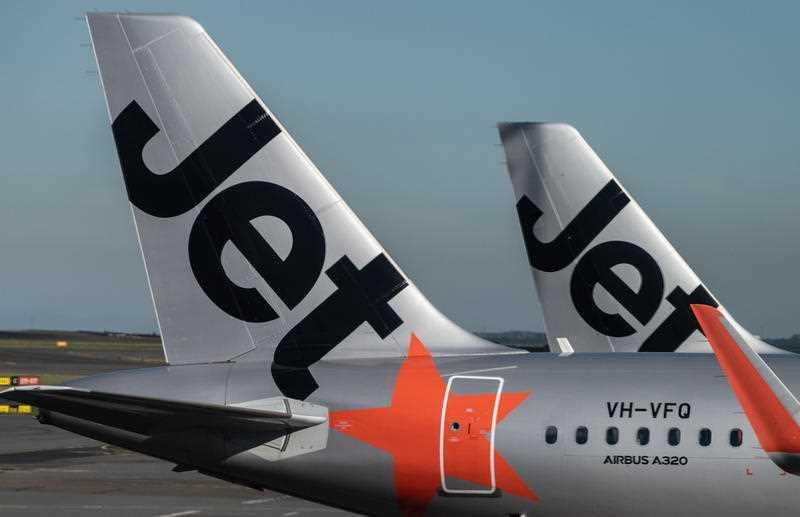A photo of a Jetstar flight.