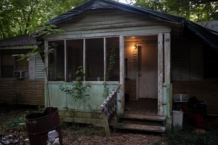Aaron Glee Jr., the suspect in the deaths of Oluwatoyin Salau, 19, and Victoria Sims, 75, was a squatter in this house on Monday Road, where the Tallahassee Police Department spent time investigating Sunday, June 14, 2020.