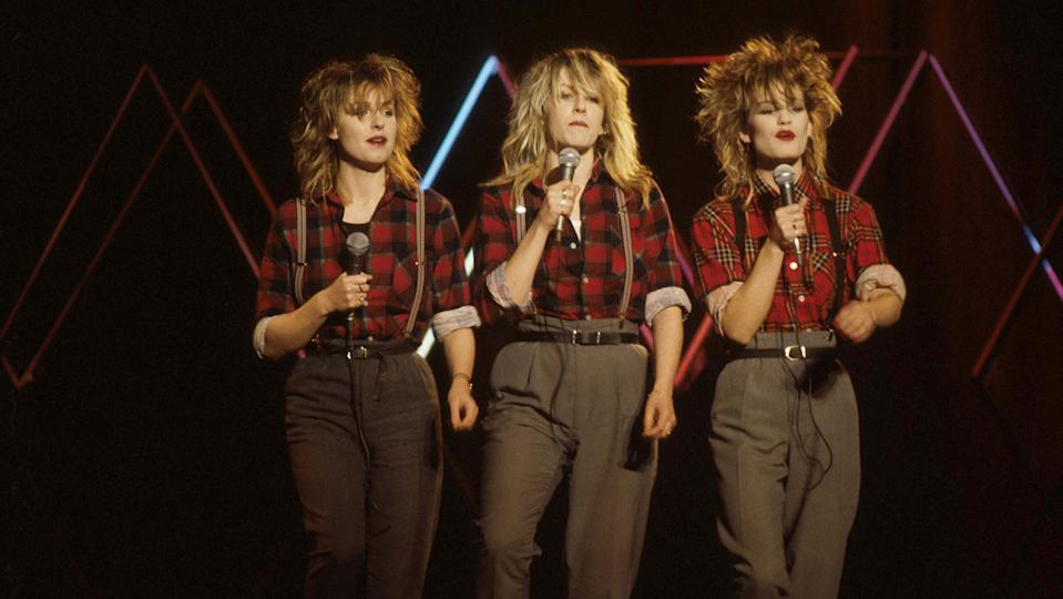 The girls used to make their own costumes and wore a lot of men's clothing back in the '80s (Image: Getty Images)