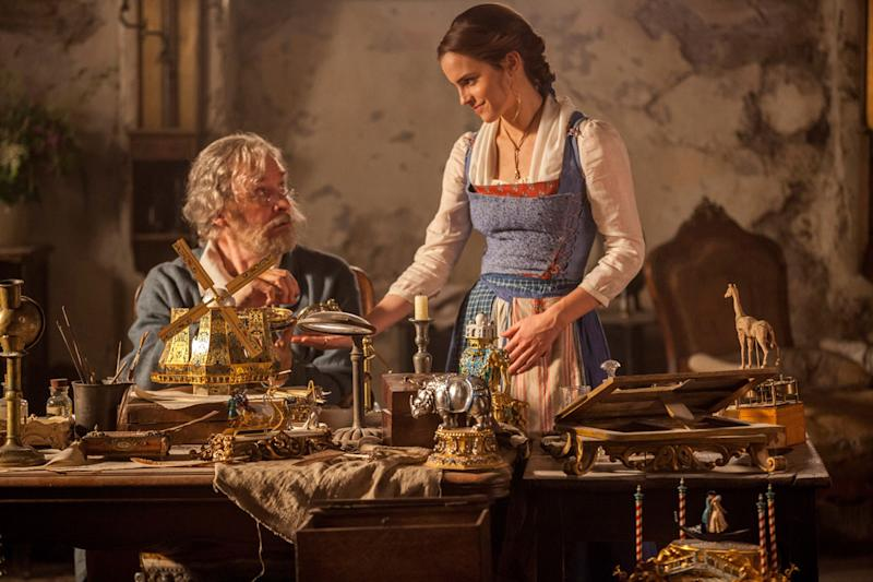 BEAUTY AND THE BEAST, Kevin Kline, Emma Watson, 2017. (Photo: Walt Disney Pictures /Everett Collection)