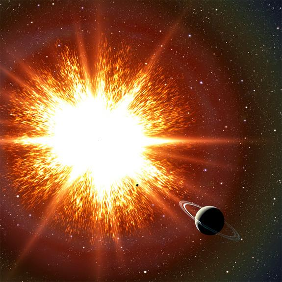 """New research shows that some old stars known as white dwarfs might be held up by their rapid spins, and when they slow down, they explode as Type Ia supernovas. Thousands of these """"time bombs"""" could be scattered throughout our galaxy. In this a"""