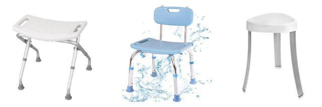 shower stools white bench blue chair white stool