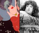 """<div class=""""caption-credit""""> Photo by: Walt Disney/Everett Collection</div><b>Ursula/Divine</b> <br> Flamboyant drag performer Divine inspired the look of Ursula the Sea-Witch for """"The Little Mermaid"""" (1989)."""