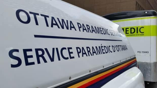 Paramedics say three women and three children were taken to Ottawa hospitals following a two-vehicle crash Saturday afternoon near Constance Bay. (Jean-Sébastien Marier/CBC - image credit)
