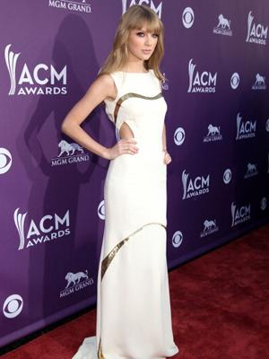 Many celebs caught on to the cut-out trend in 2012, including Taylor Swift at the 47th Annual Academy Of Country Music Awards.
