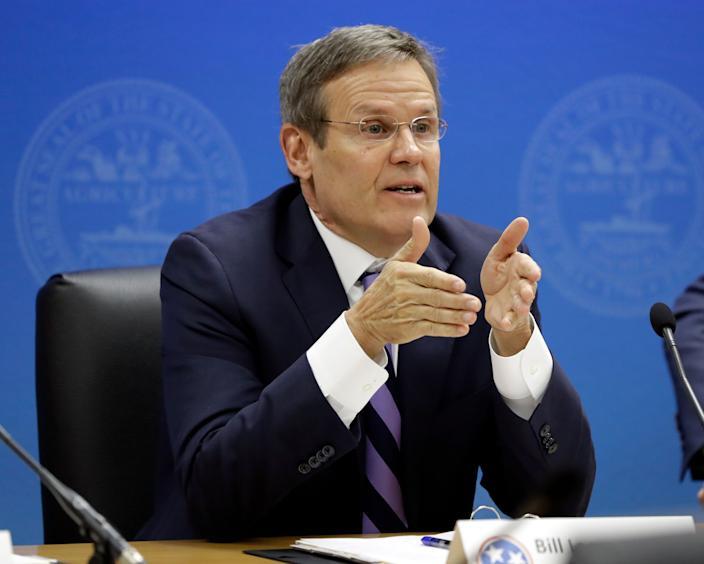 Tennessee Gov. Bill Lee asks a question during a hearing in Nashville, Tenn., in January 2019. (Photo: Mark Humphrey/AP)