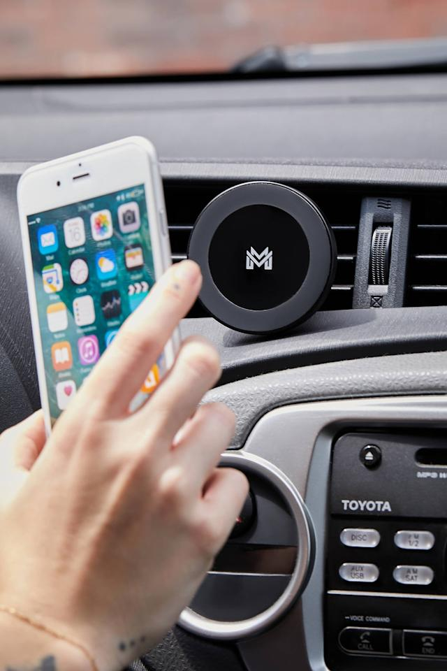 "<p>Go hands free with this <a href=""https://www.popsugar.com/buy/Wireless-Charging-Magnetic-Car-Mount-500013?p_name=Wireless%20Charging%20Magnetic%20Car%20Mount&retailer=urbanoutfitters.com&pid=500013&price=50&evar1=geek%3Aus&evar9=44622392&evar98=https%3A%2F%2Fwww.popsugartech.com%2Fphoto-gallery%2F44622392%2Fimage%2F46745994%2FWireless-Charging-Magnetic-Car-Mount&list1=shopping%2Curban%20outfitters%2Cgadgets%2Cgift%20guide%2Ctech%20shopping&prop13=mobile&pdata=1"" rel=""nofollow"" data-shoppable-link=""1"" target=""_blank"" class=""ga-track"" data-ga-category=""Related"" data-ga-label=""https://www.urbanoutfitters.com/shop/wireless-charging-magnetic-car-mount?category=cell-phone-accessories&amp;color=002&amp;type=REGULAR"" data-ga-action=""In-Line Links"">Wireless Charging Magnetic Car Mount</a> ($50).</p>"