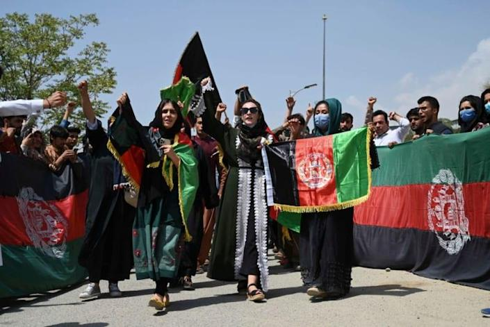 Protest in Kabul