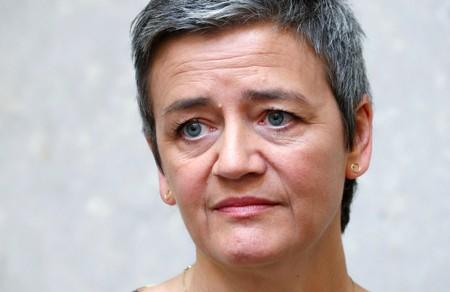 FILE PHOTO: EU Commissioner Vestager attends a weekly college meeting of the EU executive in Brussels
