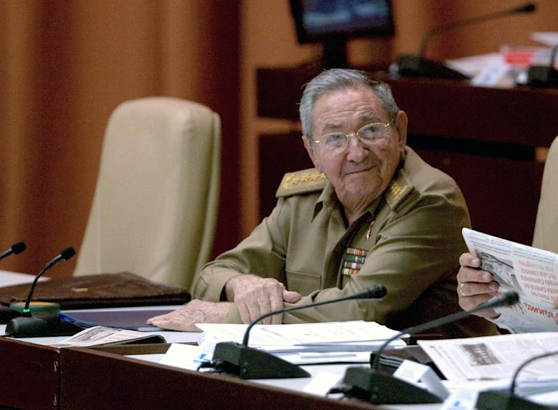 A picture taken from Cuban official website cubadebate.cu shows President Raul Castro during the first annual session of Cuban Parliament on July 15, 2015, at Convention Palace in Havana