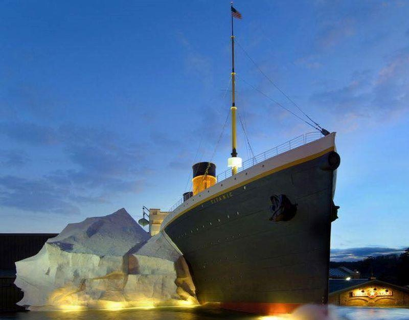 Three visitors were hospitalised after being hit by the iceberg wall in Tennessee's Titanic Museum. — Picture via Facebook