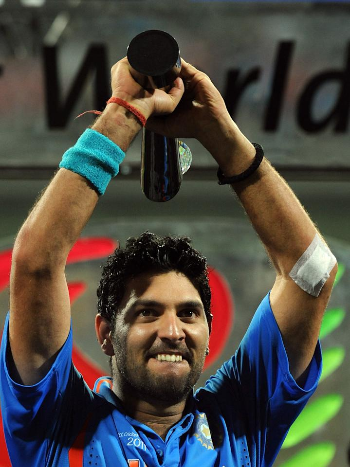 Yuvraj Singh was named Player of the World Cup for his 362 runs and 15 wickets in the 2011 World Cup. Sri Lanka's Tillakaratne Dilshan (500 runs) topped the run-scoring charts in the tournament, while Sachin Tendulkar with 482 runs was second in the list. Shahid Afridi and Zaheer Khan with 21 wickets each topped the wicket-taking charts, with New Zealand's Tim Southee also making an impression with 18 wickets.
