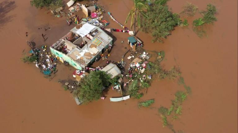 Stranded: Homes in the Buzi area of central Mozambique after Cyclone Eloise (picture: Unicef)