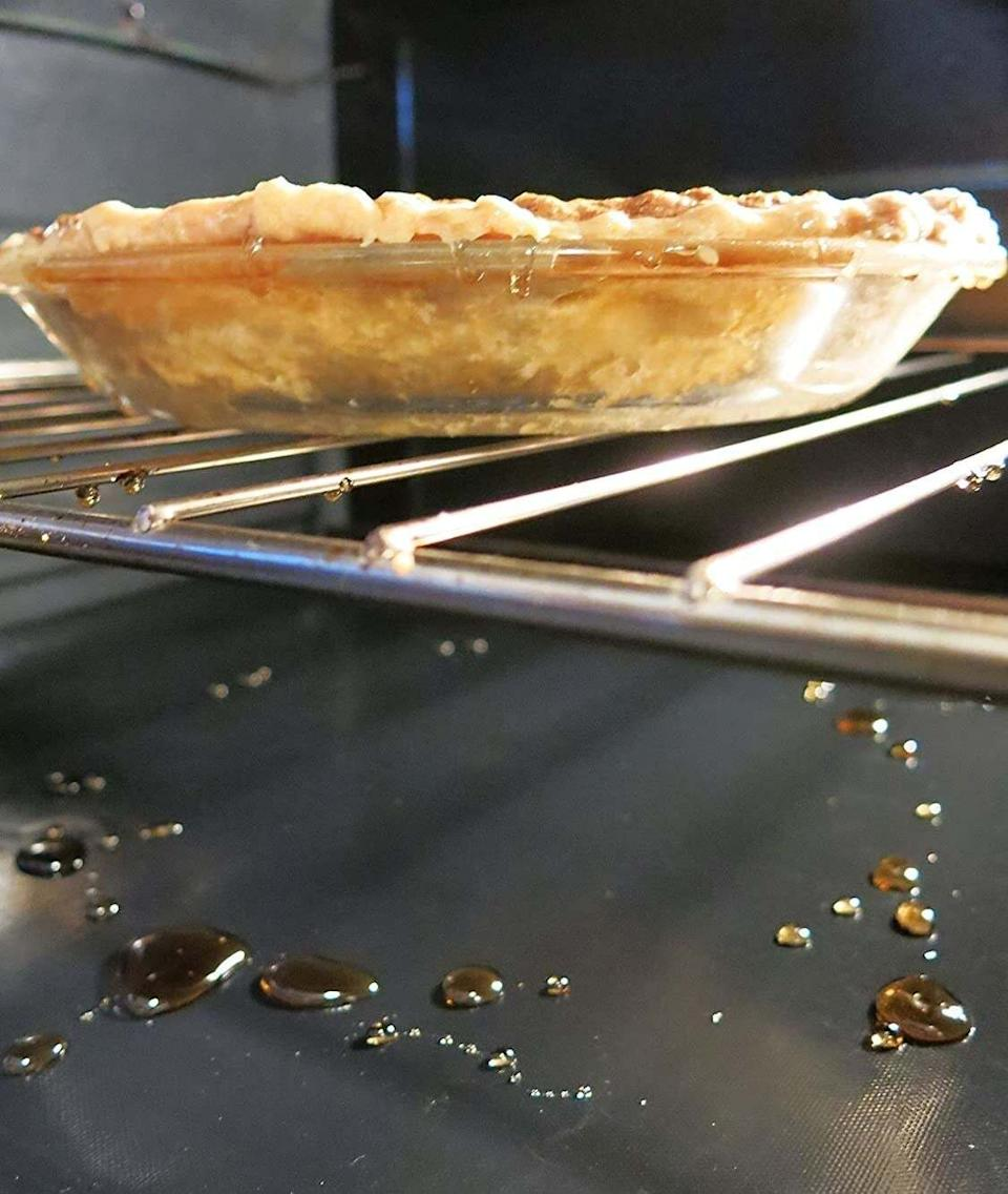 """These will not only keep your oven clean, they will prevent any spills from burning up at the bottom of your oven and triggering your smoke alarms whenever you cook.<br /><br /><strong>Promising review:</strong>""""I have a non-self-cleaning oven for the first time in decades. After having an apple pie spill over and spending more than an hour cleaning it up, I purchased these oven liners.<strong>What a time-saver. They are easy to cut so they fit perfectly.</strong>Because I have a visible heating element, the liner goes right on the oven floor, under the heating element."""" —<a href=""""https://www.amazon.com/dp/B01CKFSCOS?tag=huffpost-bfsyndication-20&ascsubtag=5834502%2C17%2C46%2Cd%2C0%2C0%2C0%2C962%3A1%3B901%3A2%3B900%3A2%3B974%3A3%3B975%3A2%3B982%3A2%2C16365534%2C0"""" target=""""_blank"""" rel=""""noopener noreferrer"""">K L Barnes-O'Connor</a><br /><br /><strong>Get a three-pack from Amazon for<a href=""""https://www.amazon.com/dp/B01CKFSCOS?tag=huffpost-bfsyndication-20&ascsubtag=5834502%2C17%2C46%2Cd%2C0%2C0%2C0%2C962%3A1%3B901%3A2%3B900%3A2%3B974%3A3%3B975%3A2%3B982%3A2%2C16365534%2C0"""" target=""""_blank"""" rel=""""noopener noreferrer"""">$13.99</a>.</strong>"""