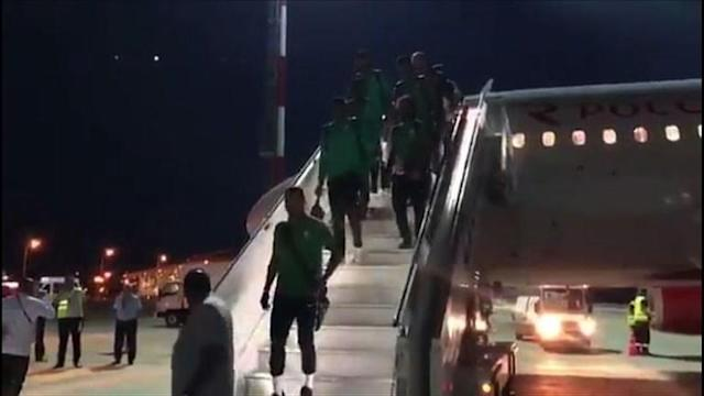 "The plane carrying the Saudi Arabia football team suffers a ""technical failure"" on an engine before safely landing in Rostov, where the side is due to play their next match against Uruguay."