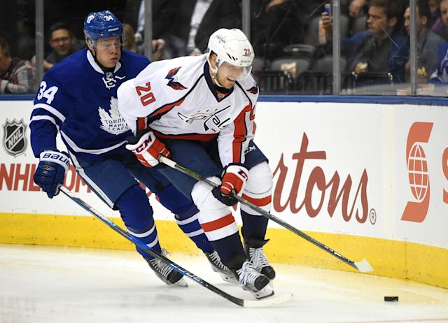 Lars Eller was dealing with an injury through the playoffs for the Caps and now it appears that injury has ended his participation in the World Championship.