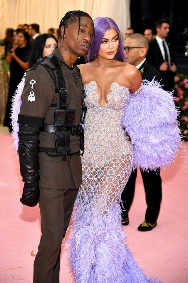 Travis Scott and Kylie Jenner at the 2019 Met Gala