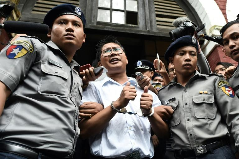 Reuters journalists given seven years in jail, sparking outrage