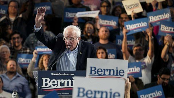 PHOTO: Democratic presidential candidate Sen. Bernie Sanders speaks during a campaign rally at the University of Houston on Feb. 23, 2020, in Houston. (Drew Angerer/Getty Images)