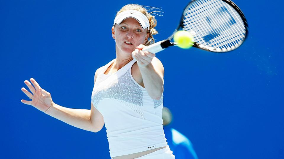 Julie Ditty, pictured here in action at the Australian Open in 2008.