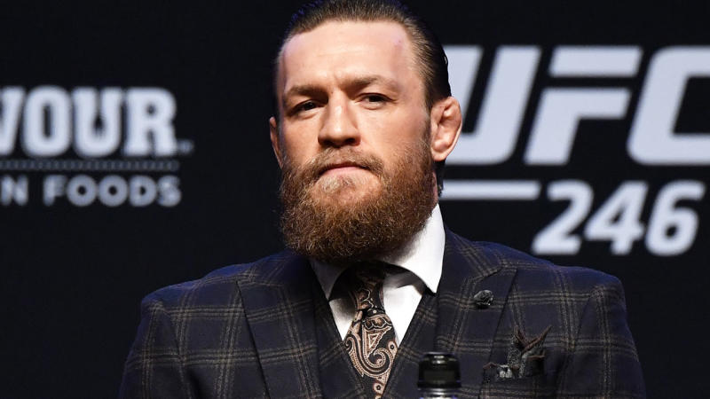 Conor McGregor, pictured here during his press conference ahead of UFC 246.