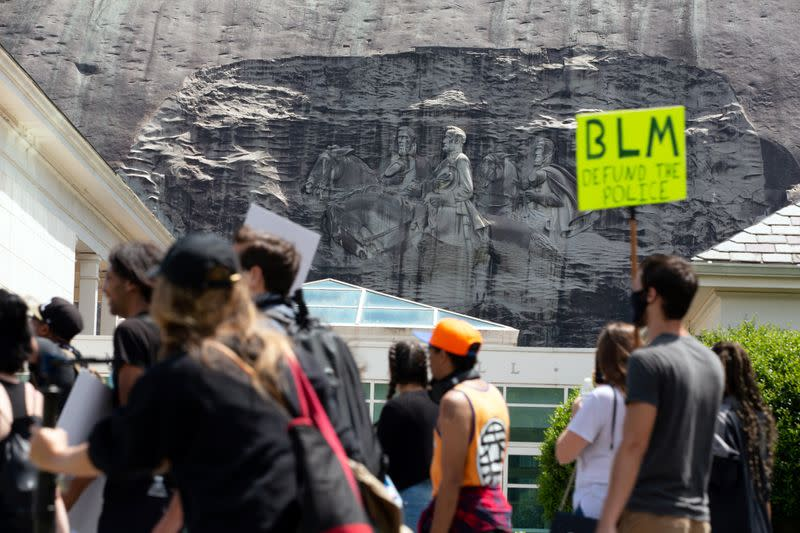 Protesters rally against racial inequality in Stone Mountain