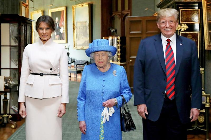 Melania Trump, Queen Elizabeth and Donald Trump