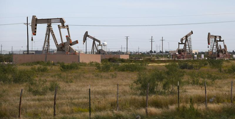 Pump jacks are dipping into the Permian Basin again as crude prices recover. (Mark Sterkel/Odessa American)