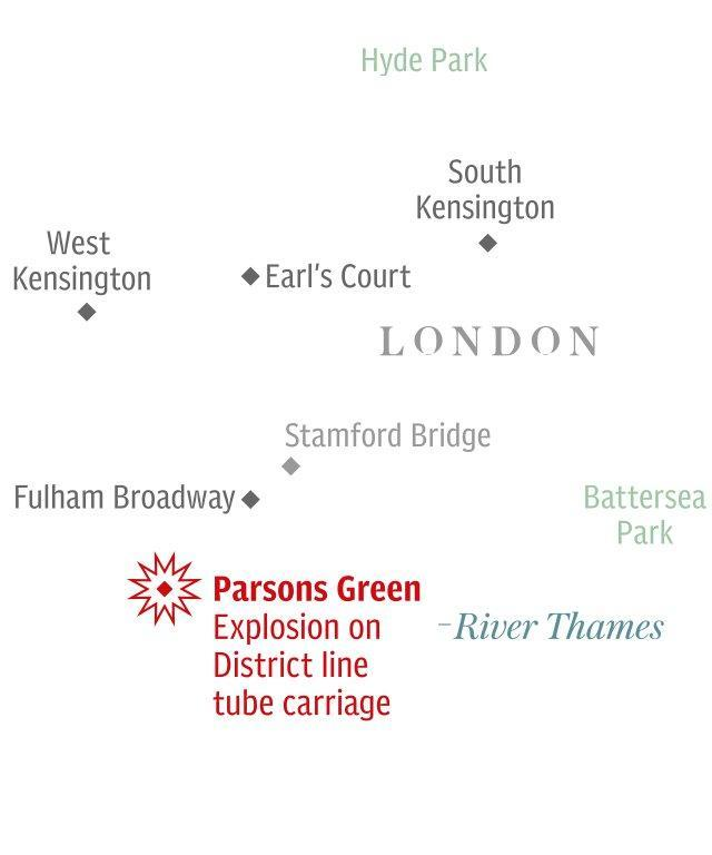 Parson's Green Tube carriage explosion
