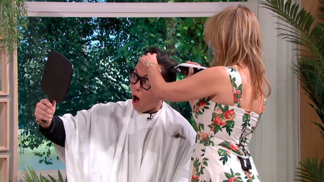 Gok shaved his head for charity. (ITV)