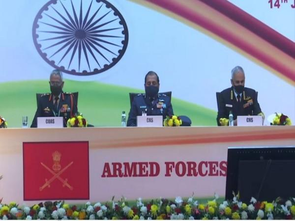 Visual from Armed Forces Veterans Day meet in New Delhi