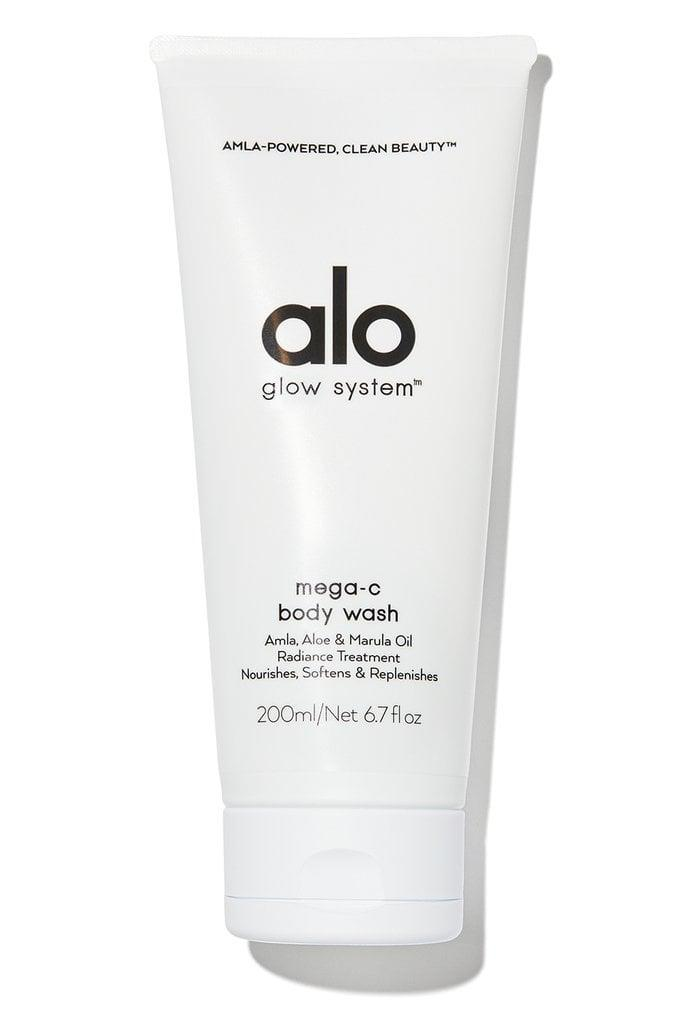 <p>Alo Yoga launched its own skin-care line complete with seven new products. The <span>Alo Yoga Mega-C Body Wash</span> ($24) is formulated with vitamin C for antioxidants and avocado oil for moisture. Use it in your normal shower routine or throw it in your gym back for a post-workout refresh.</p>