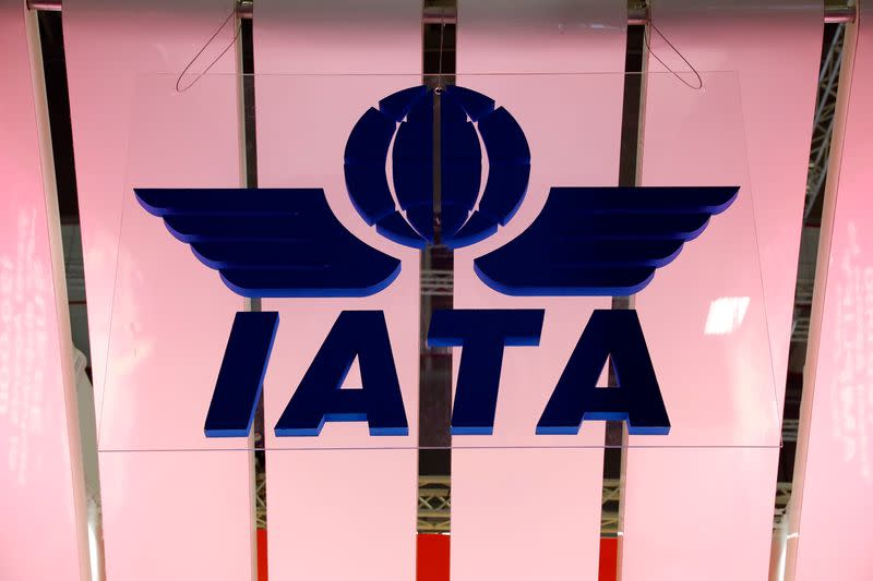 IATA logo is seen at the International Tourism Trade Fair ITB in Berlin