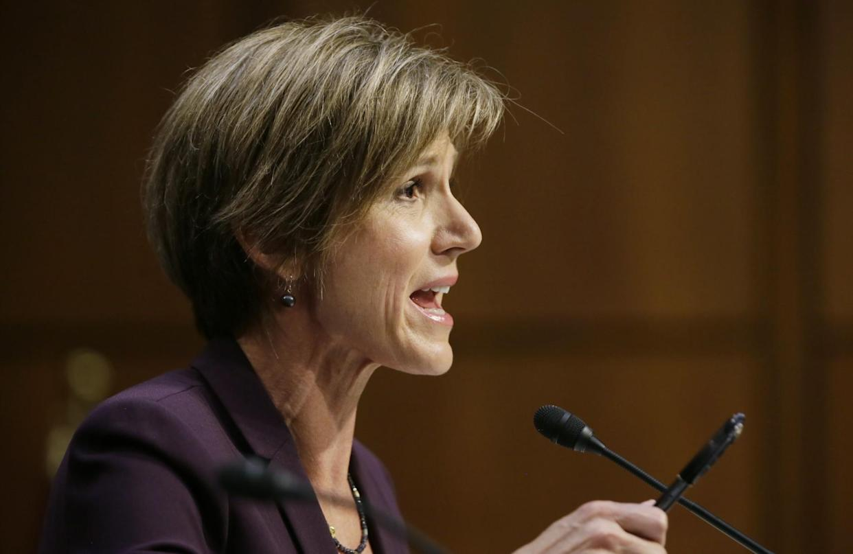 Sally Yates testifies before a Senate judiciary committee hearing on Russian interference in the 2016 U.S. election, May 8, 2017. (Photo: Jim Bourg/Reuters)