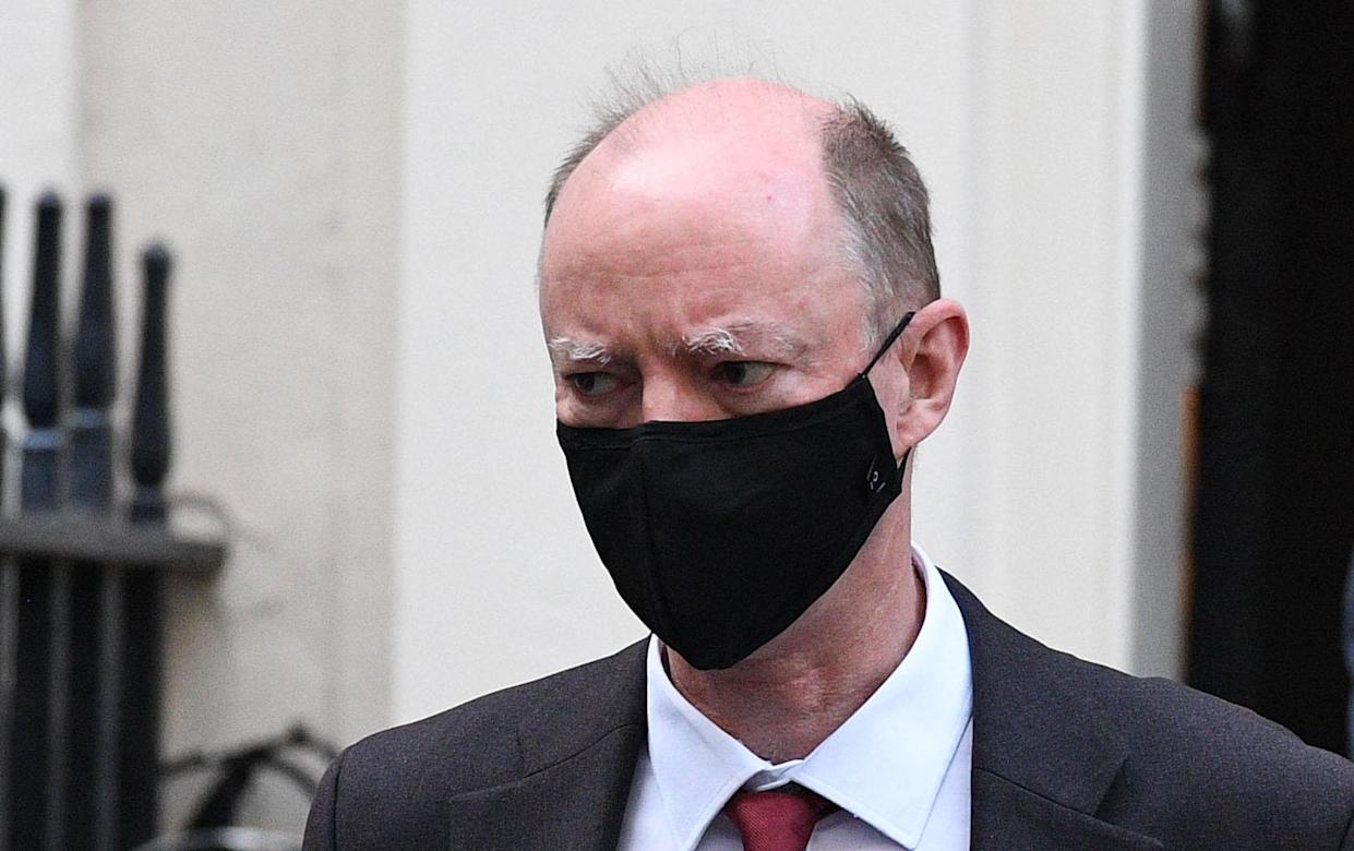 Chris Whitty has said he will continue wearing face masks when the legal obligation is removed. (Leon Neal/Getty Images)