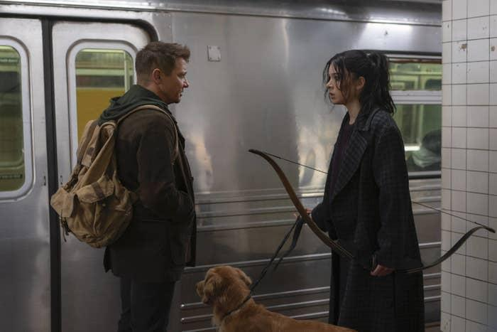Set after the events of Avengers: Endgame, this new Marvel series follows Clint Barton as he teams up with another well-known archer, Kate Bishop, who is making her MCU debut. Hawkeyewill follow Clint and Kate as they fight crime in NYC around the holidays. With a stacked cast — and an all-but-officially-confirmed appearance by Florence Pugh's Yelena Belova — you don't want to miss this latest MCU show.Starring:Jeremy Renner, Hailee Steinfeld, Vera Farmiga, Fra Fee, Tony Dalton, Zahn McClarnon, Brian d'Arcy James, Alaqua Cox, Florence Pugh, and moreWhen it premieres:Nov. 24 on Disney+Watch the trailer here
