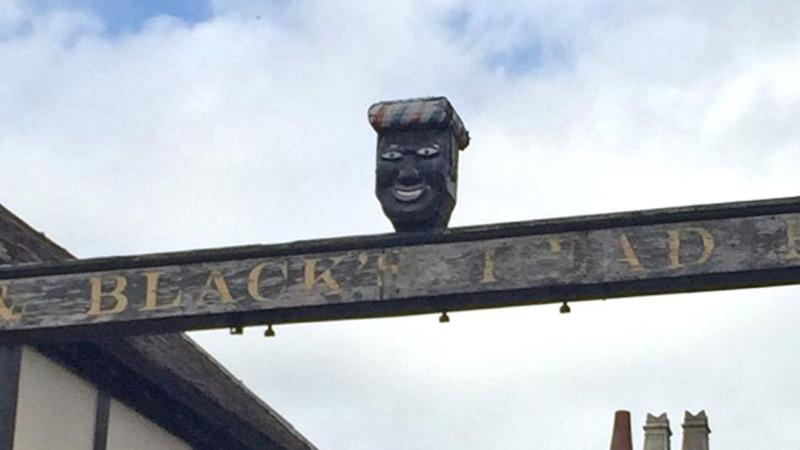 The sign for the Greenman pub