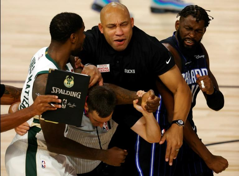 Bucks' Williams and Magic's Ennis fined after scuffle