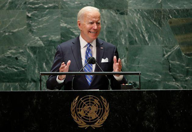 US President Joe Biden addresses the 76th Session of the UN General Assembly on September 21, 2021 in New York. (Photo by EDUARDO MUNOZ / POOL / AFP) (Photo by EDUARDO MUNOZ/POOL/AFP via Getty Images) (Photo: EDUARDO MUNOZ via Getty Images)