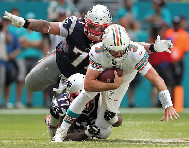 Josh Rosen and the Miami Dolphins are off to a bad start this season. (Getty Images)
