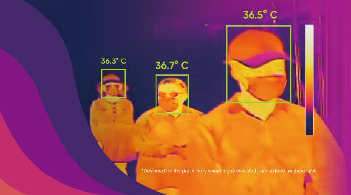 Hikvision provides contactless ways of checking a persons temperature. Source: Hikvision