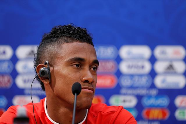 Soccer Football - World Cup - Panama Press Conference - Nizhny Novgorod Stadium, Nizhny Novgorod, Russia - June 23, 2018 Panama's Edgar Barcenas during the press conference REUTERS/Carlos Barria